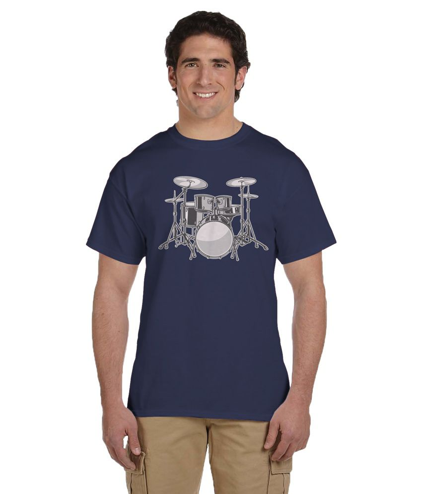 Haunting Dragons Navy Round T Shirt