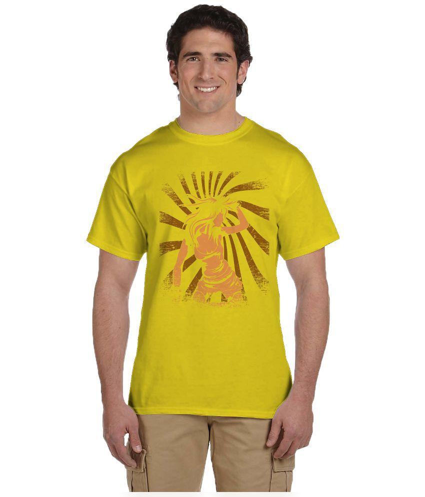 Haunting Dragons Yellow Round T Shirt