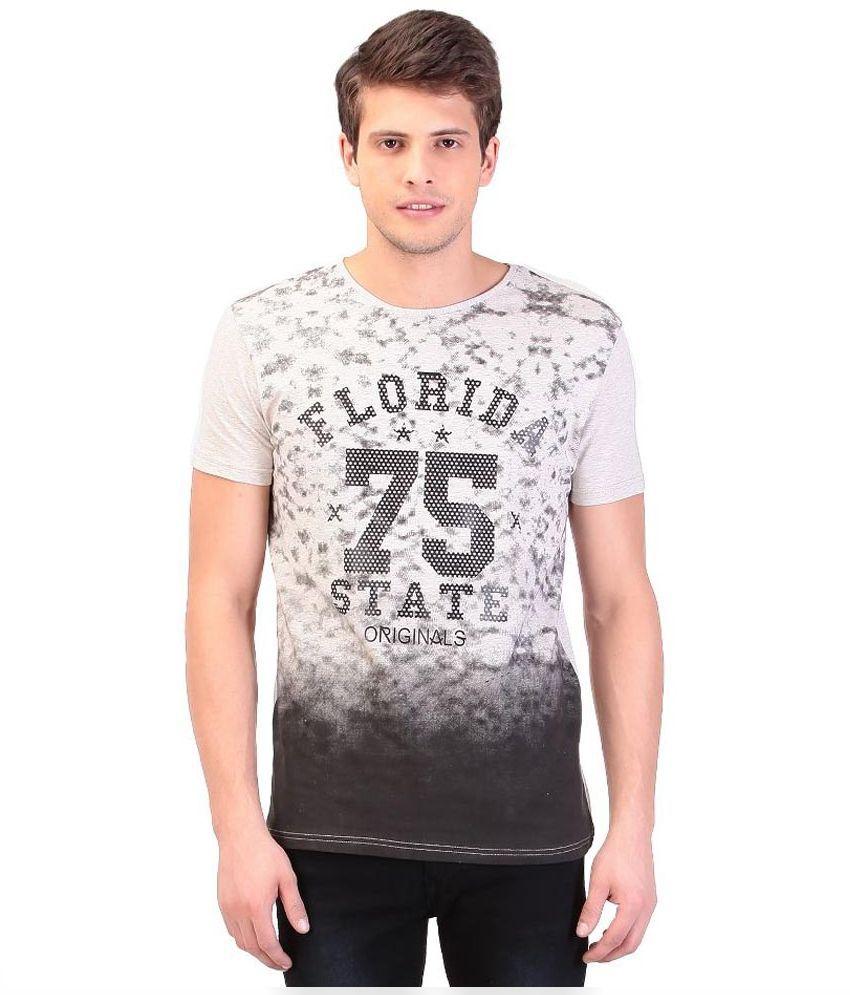 Tag 7 White Round T Shirt