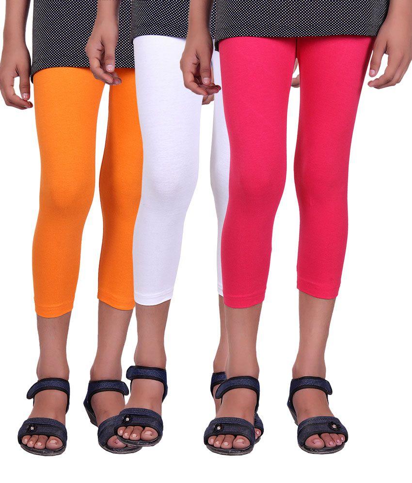 Alisha Multicolour Capri For Girls - Pack of 3
