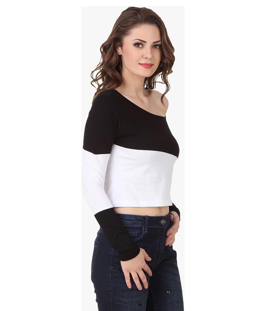 9b1ed04378bf5 Texco Black Cotton Crop Top - Buy Texco Black Cotton Crop Top Online ...
