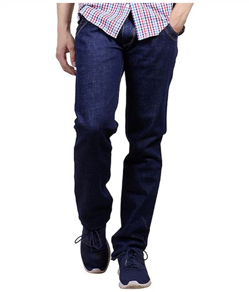 Yorky Navy Regular Fit Washed Jeans