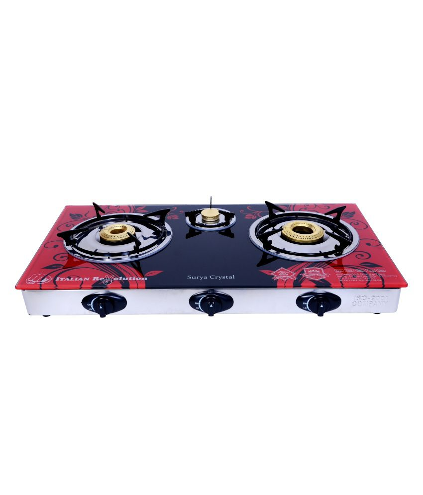 Crystal Automatic Ignition Gas Cooktop (3 Burner)