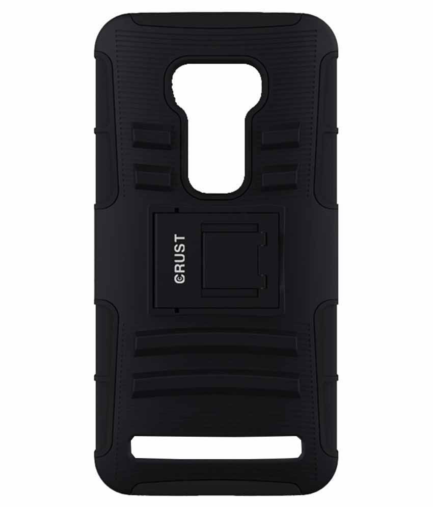 cheap for discount e13cf 1d043 Crust Back Cover Case With Stand For Asus Zenfone 2 Laser ZE550kl, ZE551kl  - Black