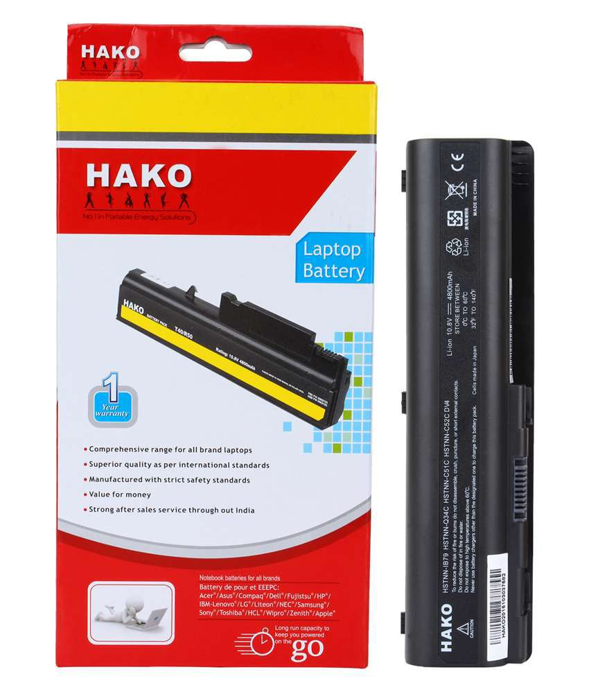Hako Hp Compaq Pavilion Dv5-1060ee 6 Cell Laptop Battery