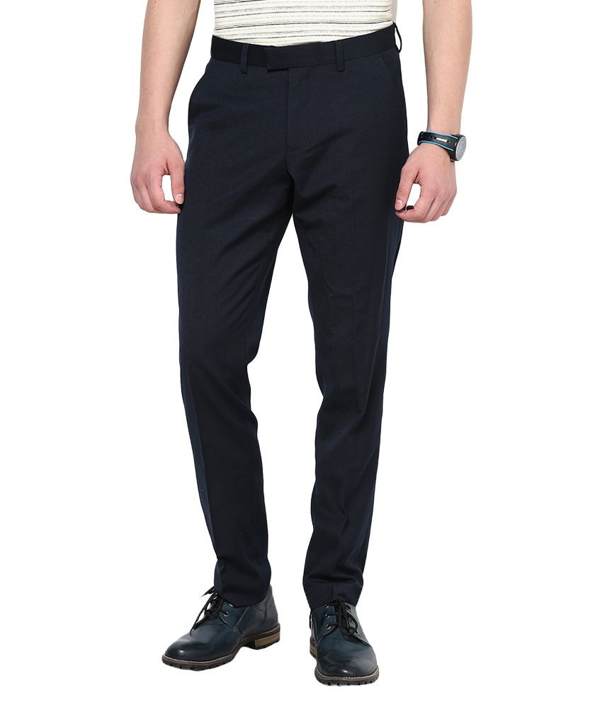 Jack & Jones Navy Slim Fit Trousers