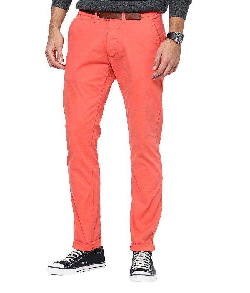 Jack & Jones Peach Slim Fit Trousers