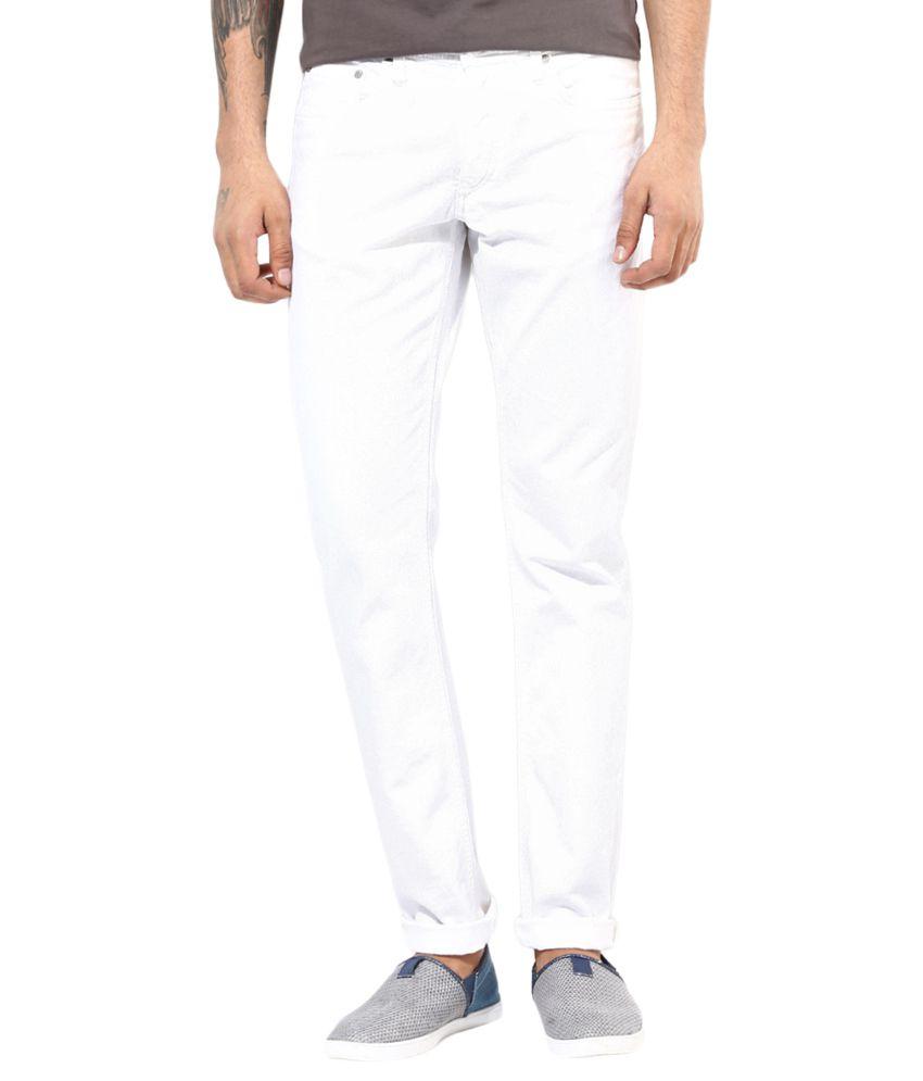 Jack & Jones White Slim Fit Jeans