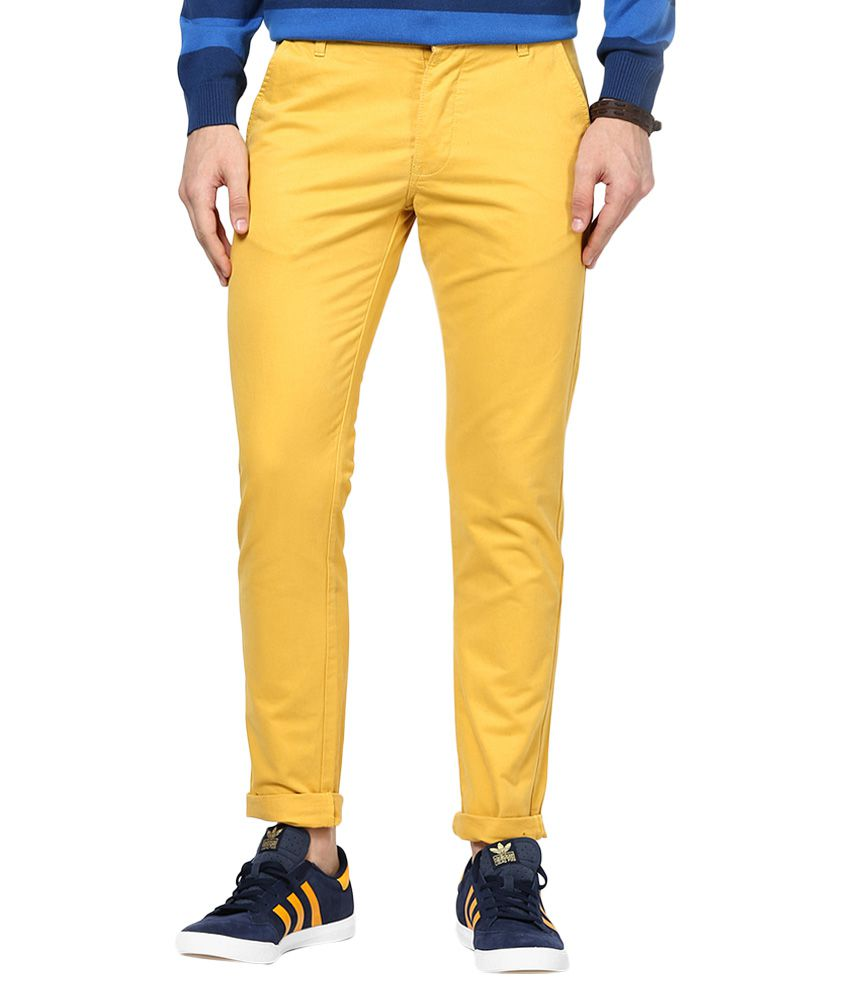Jack & Jones Yellow Slim Fit Trousers