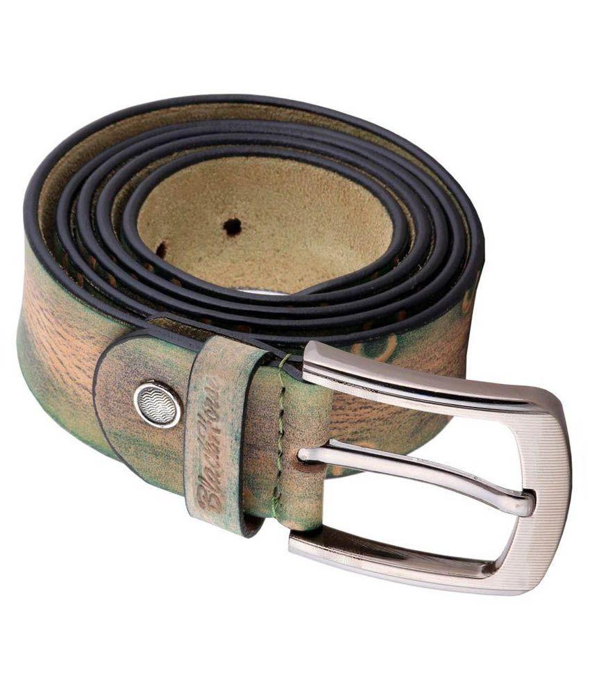 Black Horse Multicolour Leather Belt For Men