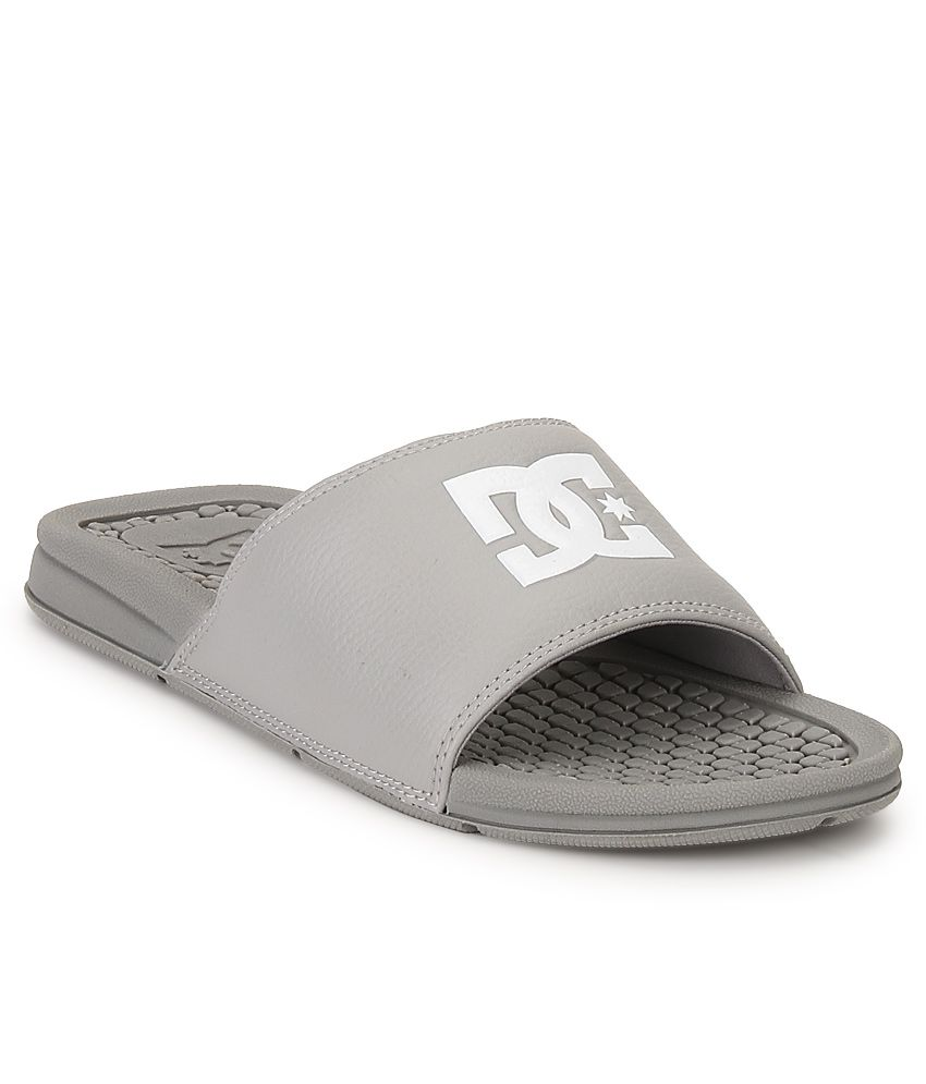9d95fcb43dc6c7 DC Bolsa M Sndl Gray Slippers Price in India- Buy DC Bolsa M Sndl Gray  Slippers Online at Snapdeal