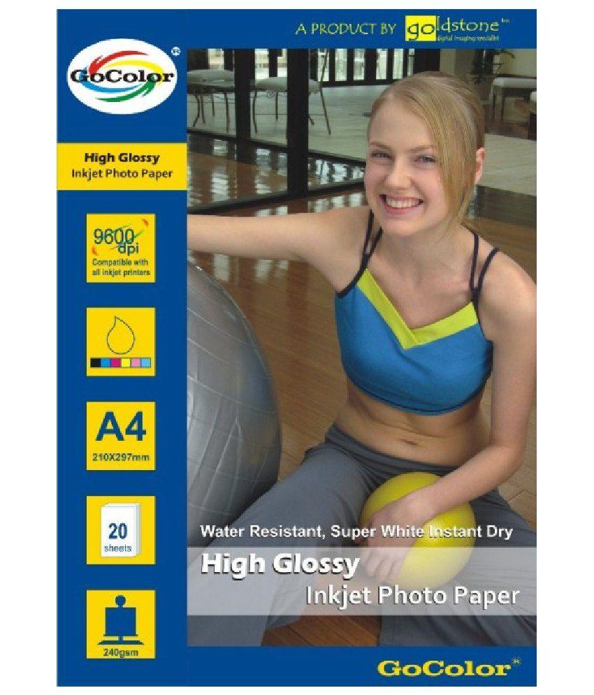 GoColor High Glossy Inkjet Photo Paper 240 GSM 20 Sheets A4 Size