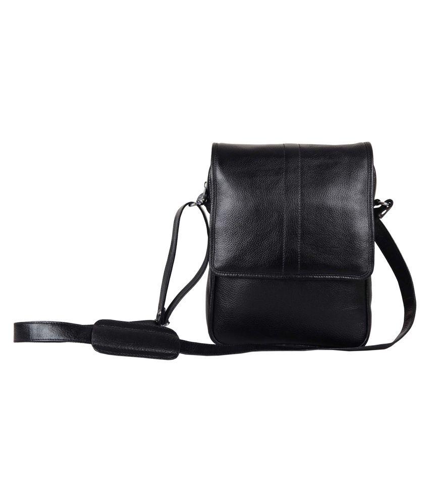 Hashain Leather Works Black P.U. Office Bag