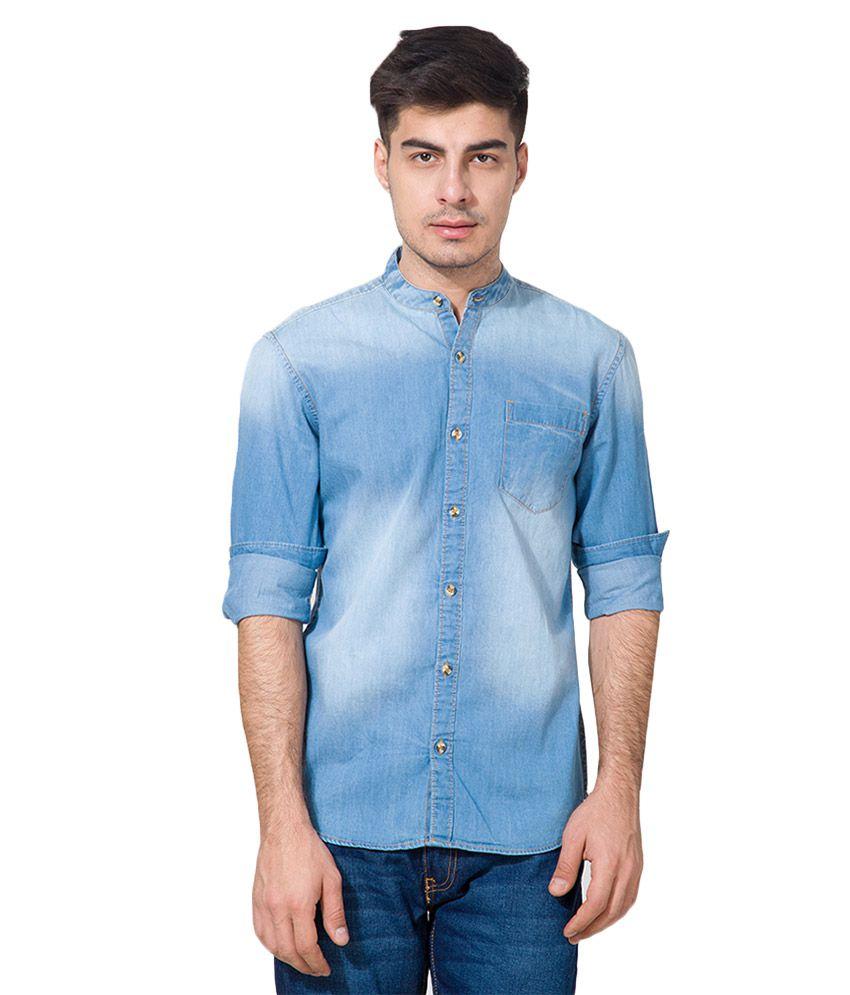 Highlander Blue Slim Fit Shirt