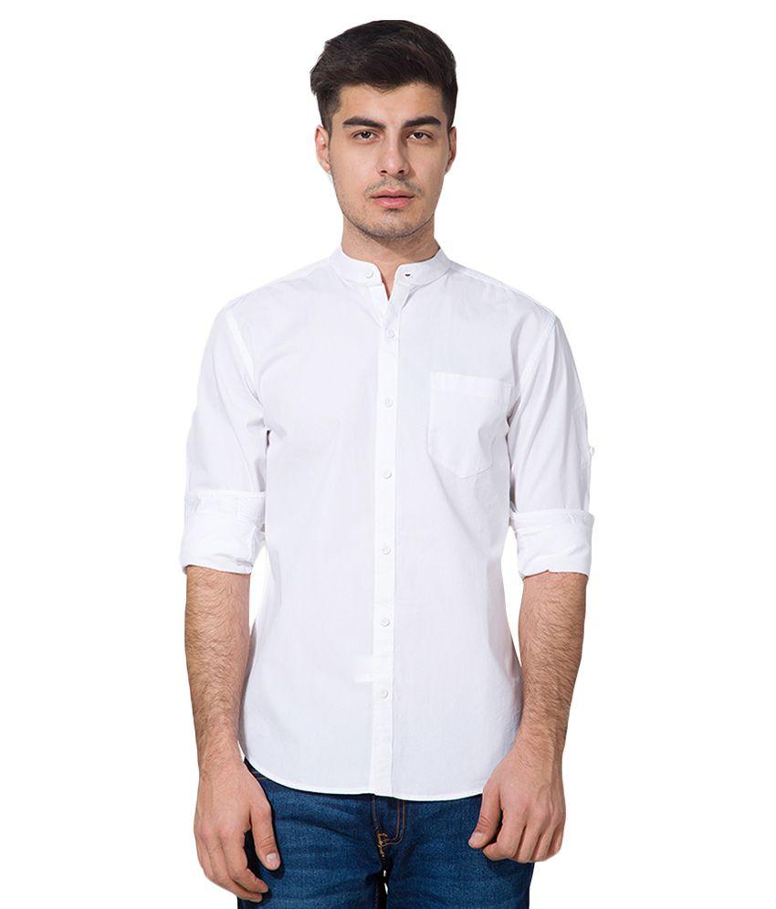 arriving stylish design top-rated real Highlander White Slim Fit Shirt