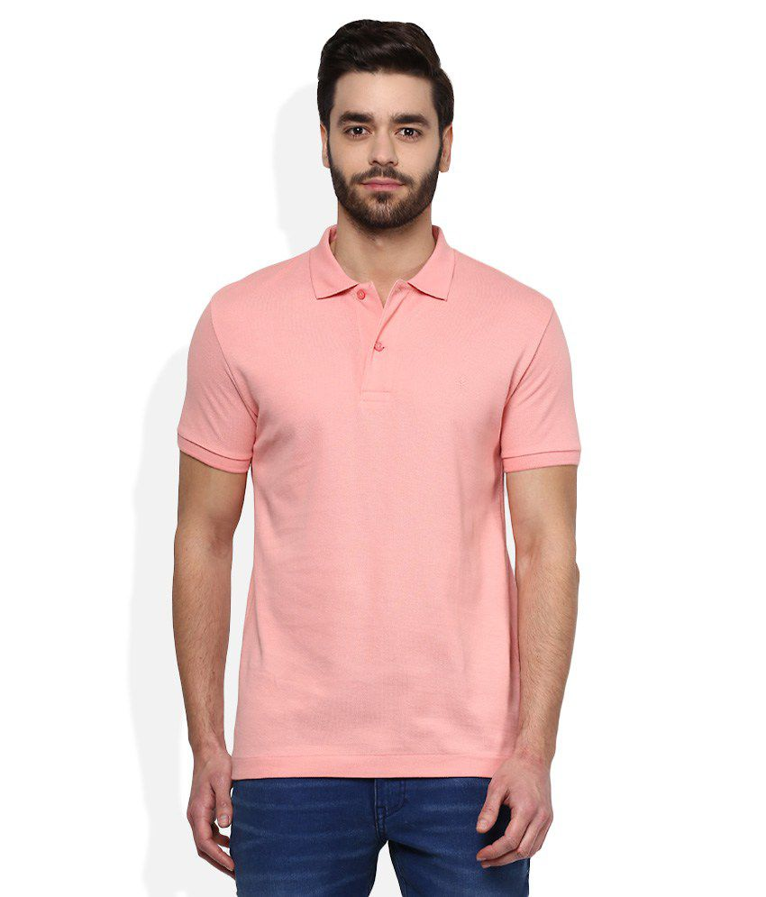 United Colors of Benetton Pink Polo Neck T-Shirt