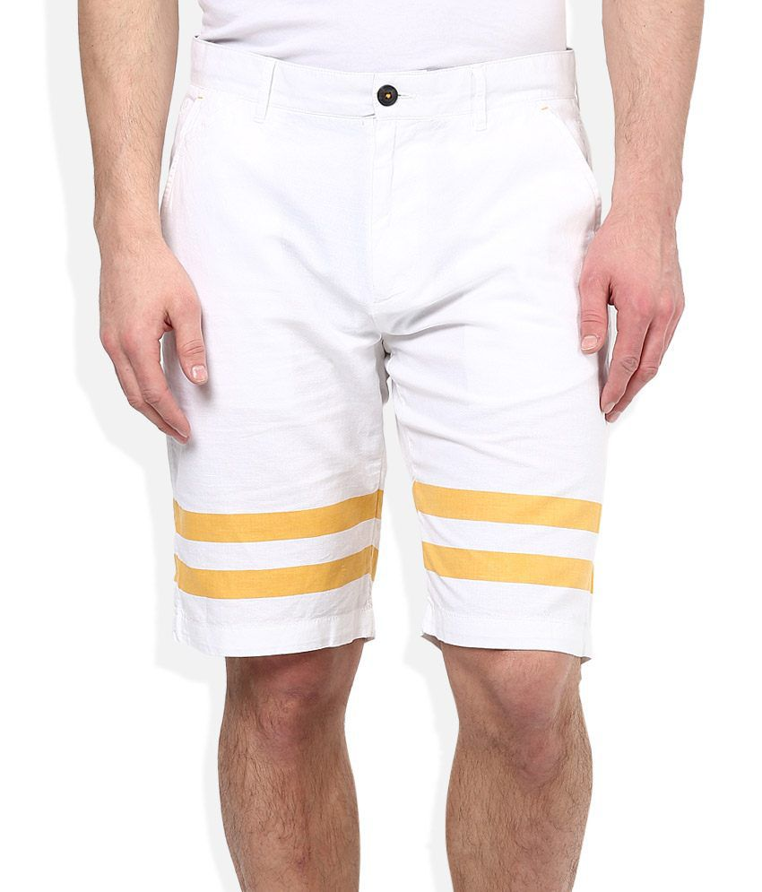 United Colors of Benetton White Shorts