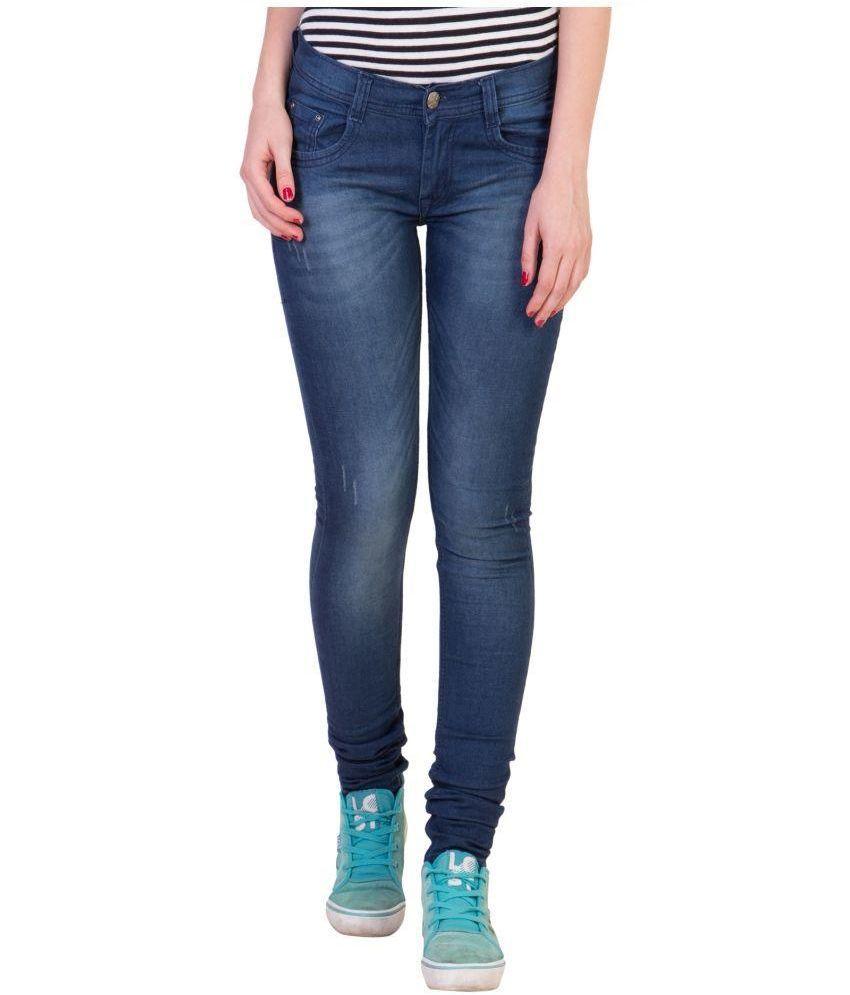 American-Elm Blue Cotton Lycra Jeans