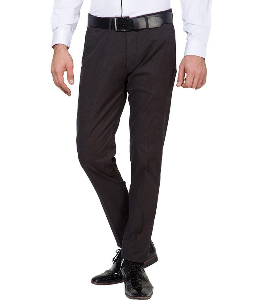 Black Coffee Black Slim Fit Trousers