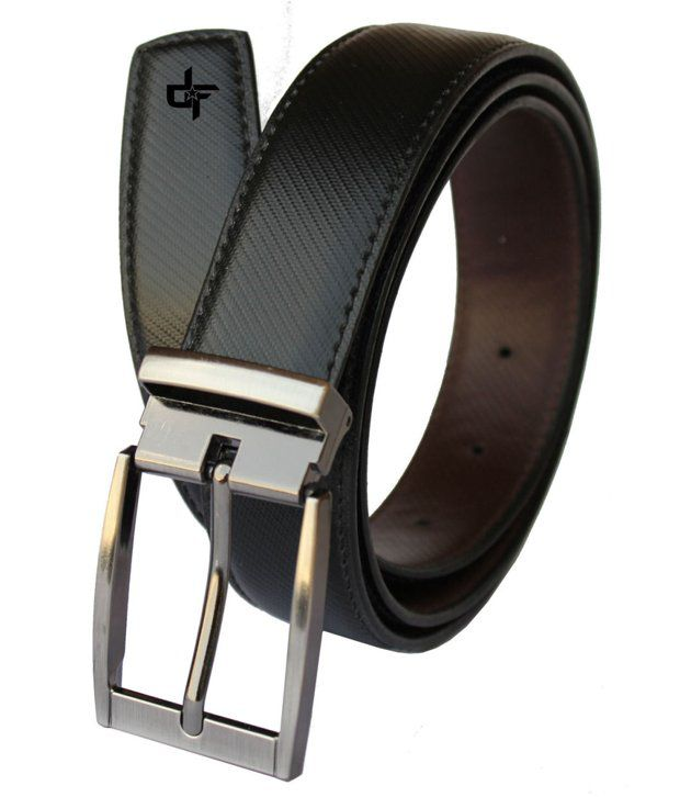 Discover Fashion Black PU Formal Belt