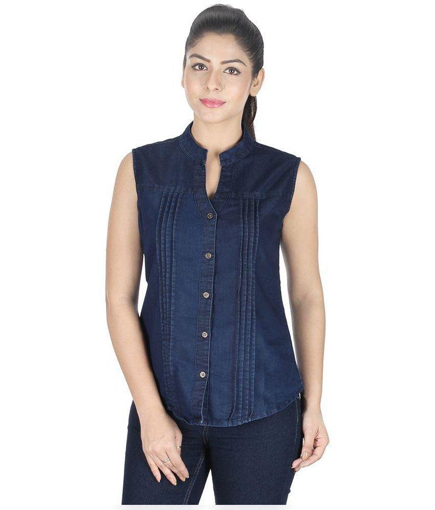 7a06b0948d0421 GsaEnterprises Blue Denim Tops - Buy GsaEnterprises Blue Denim Tops Online  at Best Prices in India on Snapdeal