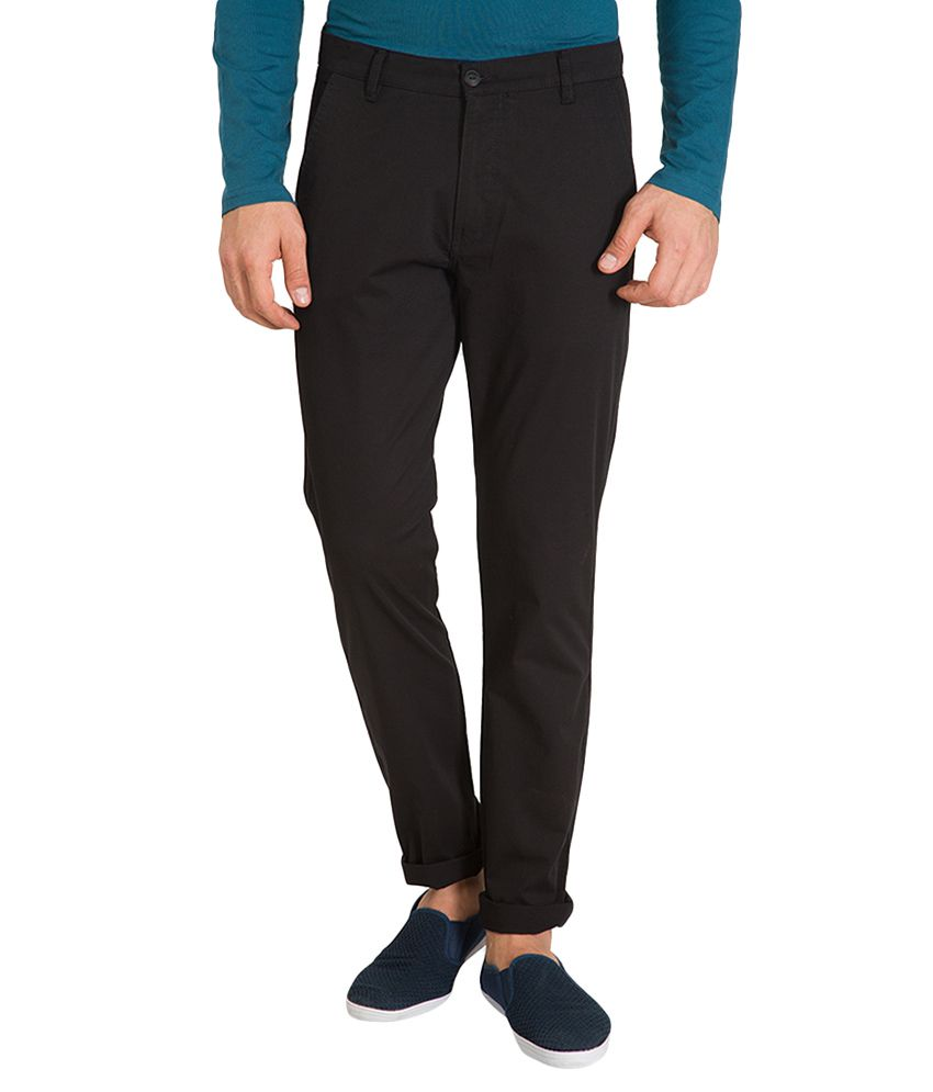 Highlander Black Slim Fit Chinos