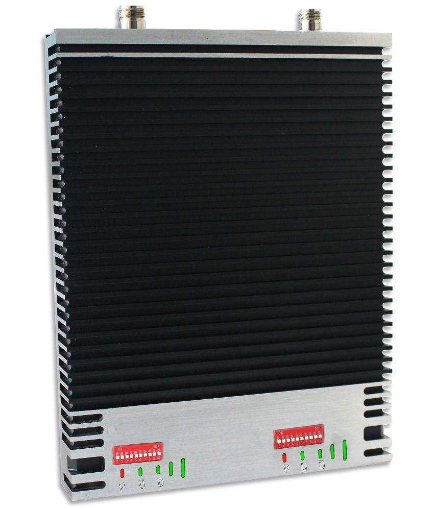 Lintratek Black Dual Band Signal Repeater 900-1800Mhz LED Screen Mobile Cell Phone Booster 2000Sqm Cover Area