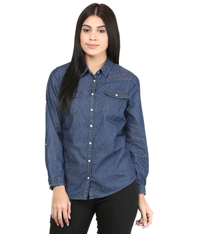 343ef04999 Mayra Blue Denim Shirts available at SnapDeal for Rs.478