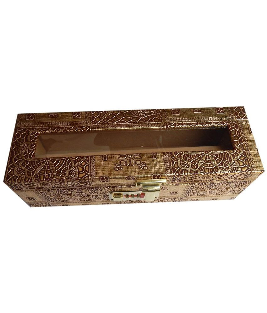 Navaksha Golden Wooden Bangle Box