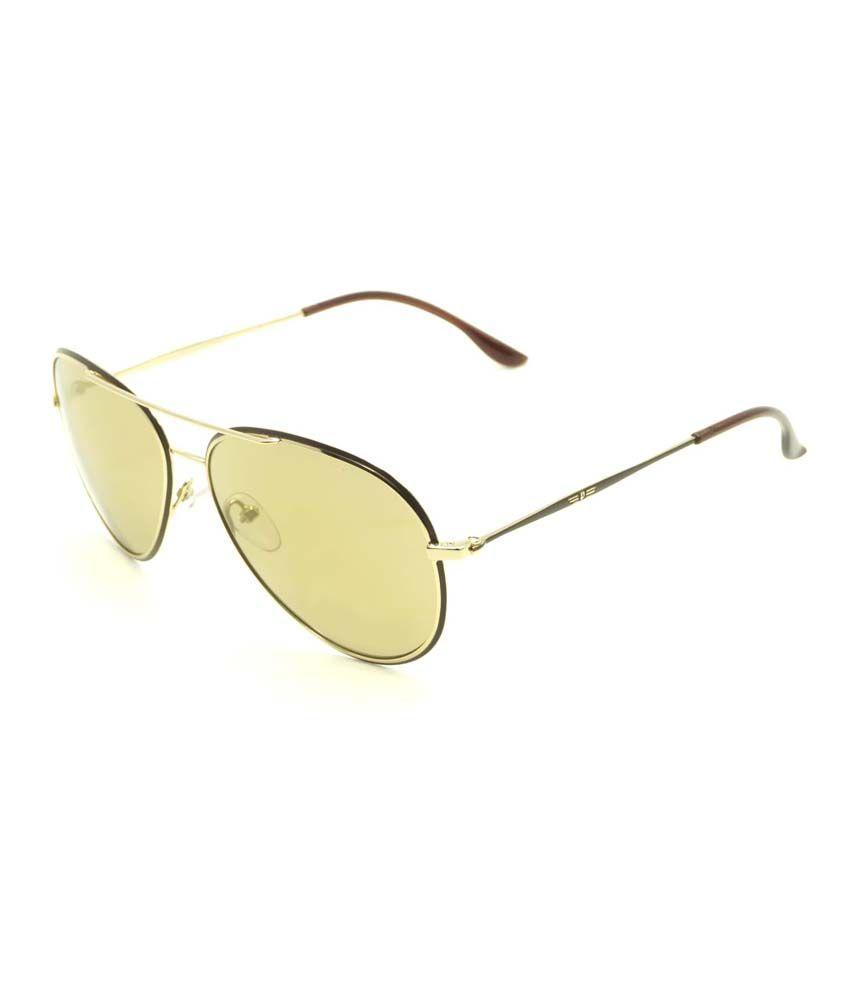 Police Golden Mirror Aviator Sunglasses