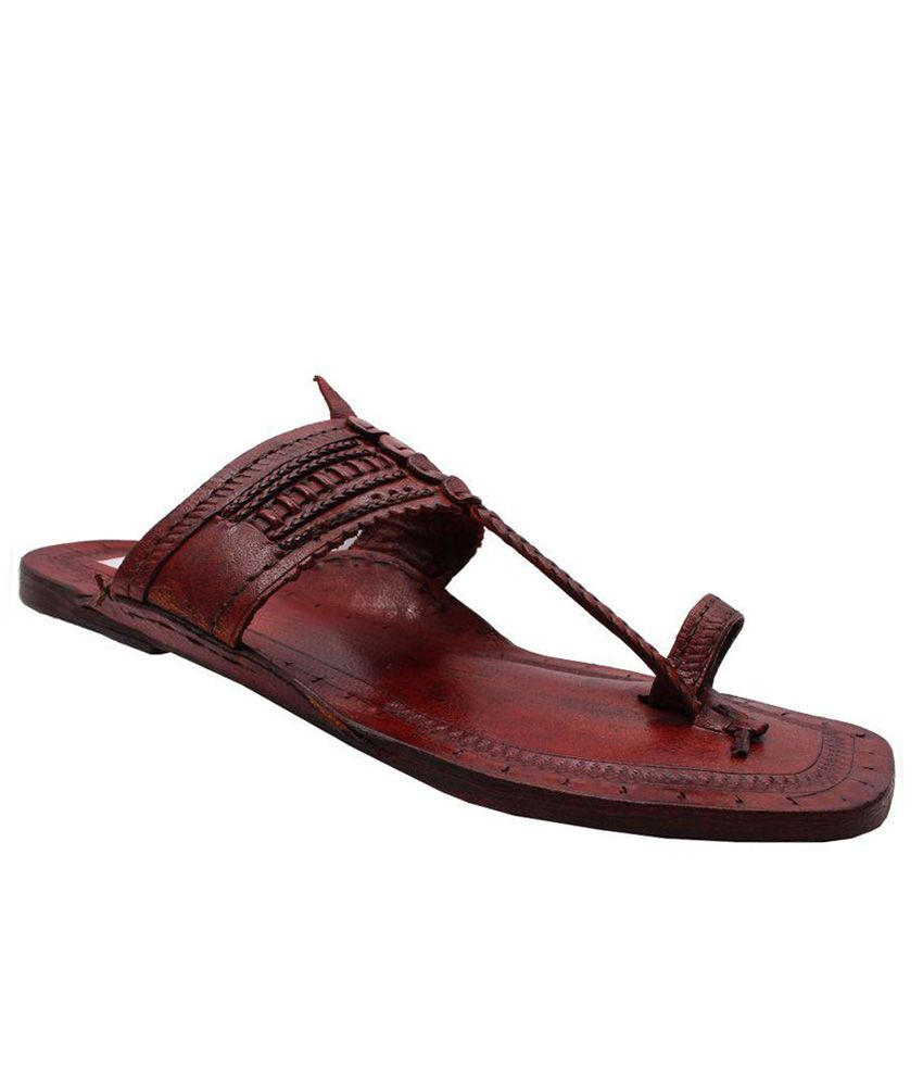 ee01f1955b61 Sushito Brown Kolhapuri Chappal - Buy Sushito Brown Kolhapuri Chappal  Online at Best Prices in India on Snapdeal