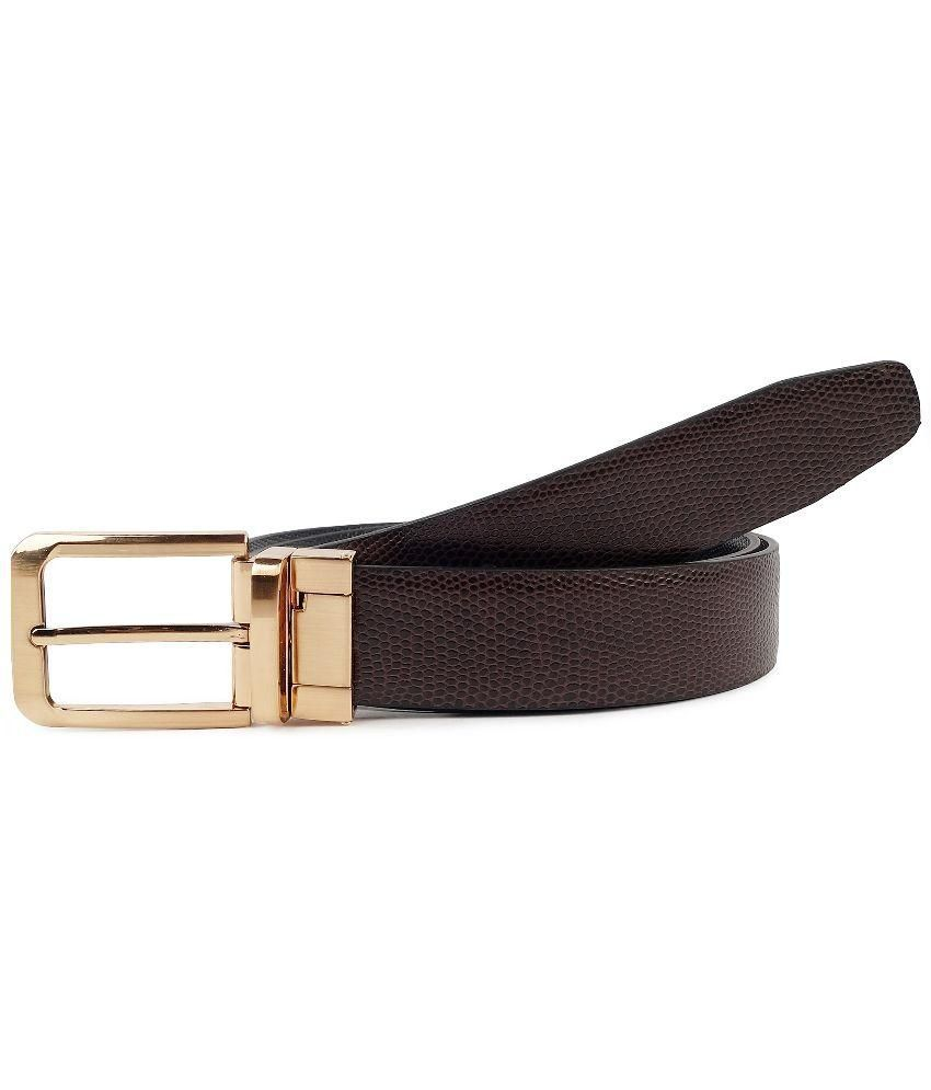 Waist Wire Black Reversible Men's Belt
