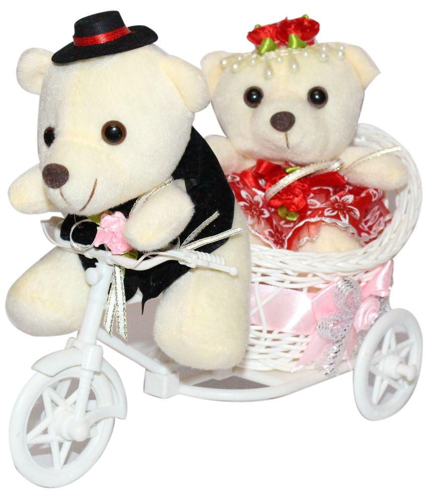 Ctw Multicolor Couple Teddy Love Cycle Valentine Gift Set Buy Ctw