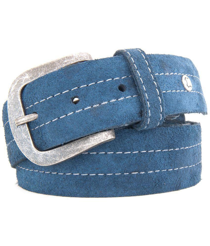 Hidea Blue Leather Belt