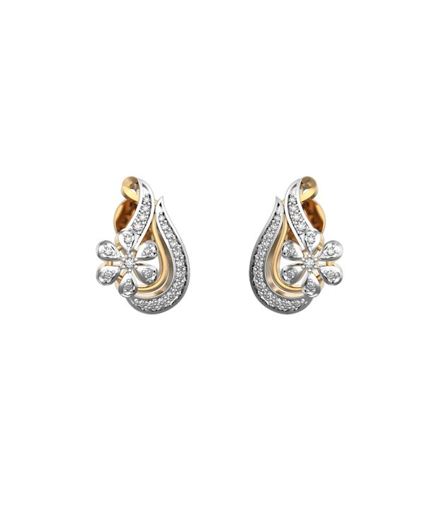 I Love Diamonds 18kt Gold Diamond Drop Earrings