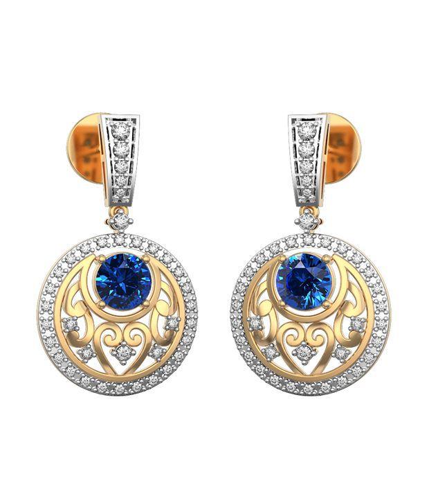 I Love Diamonds 18kt Gold Topaz Drop Earrings