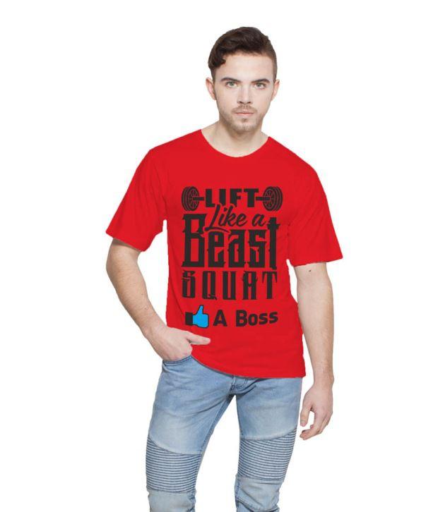Printing Geeks Red Round T Shirt