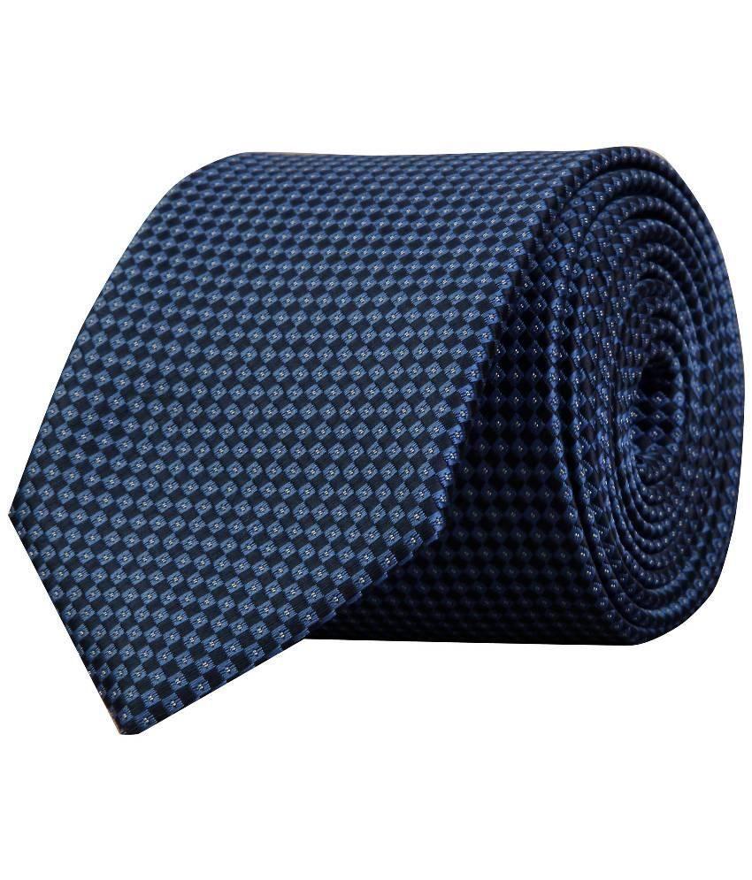 Scharf Navy Micro Fiber Men's Broad Necktie