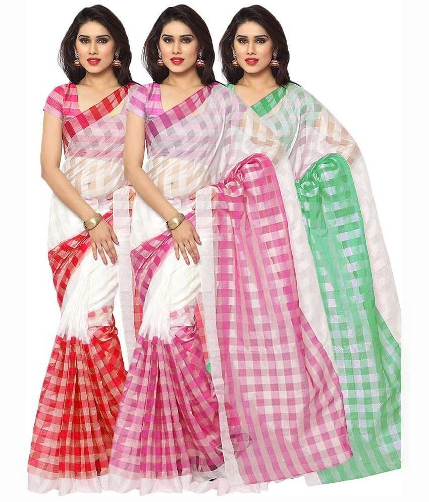 Suchi Fashion Multicoloured Cotton Saree Combos
