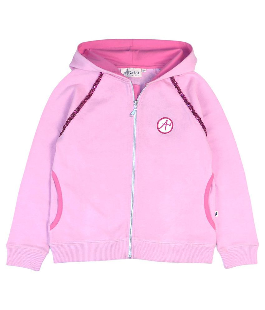 Aristot Pink Sweatshirt for kids girls