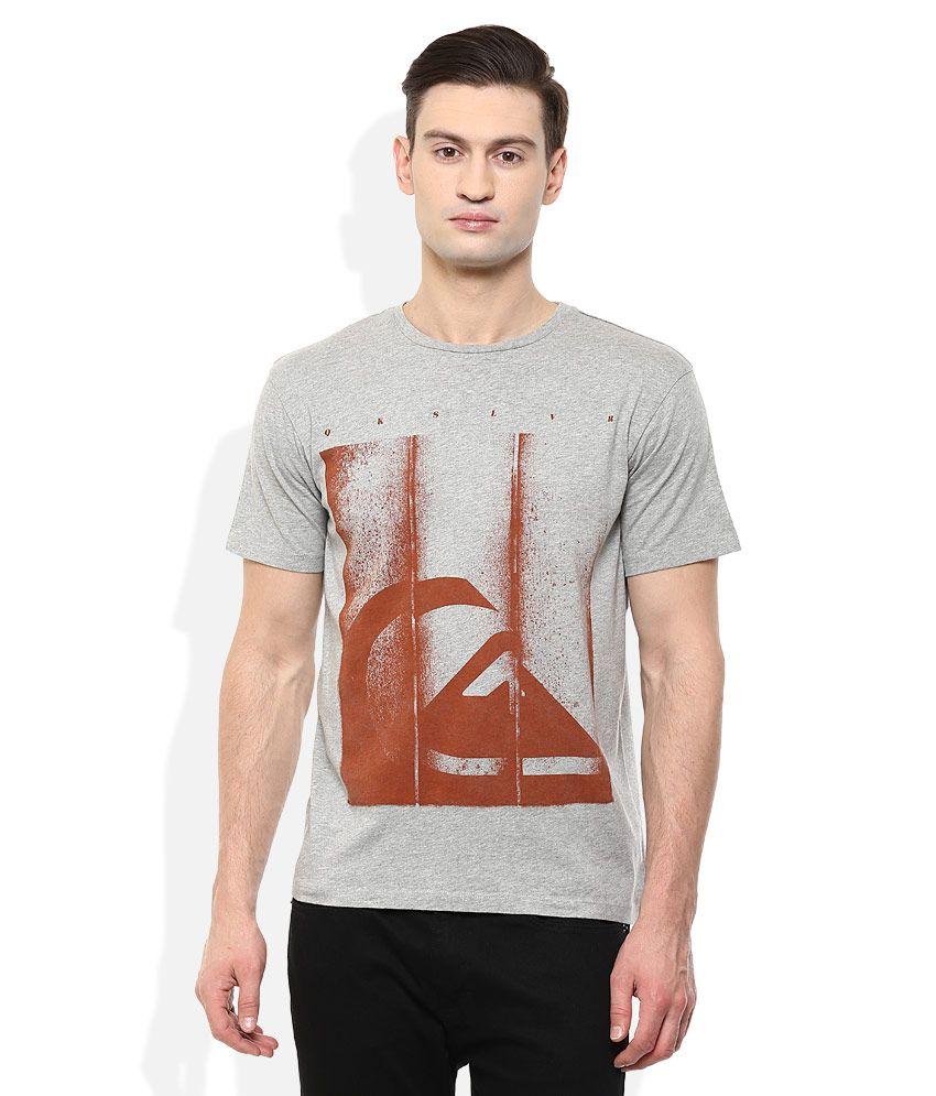 Quiksilver Grey Printed T-Shirt
