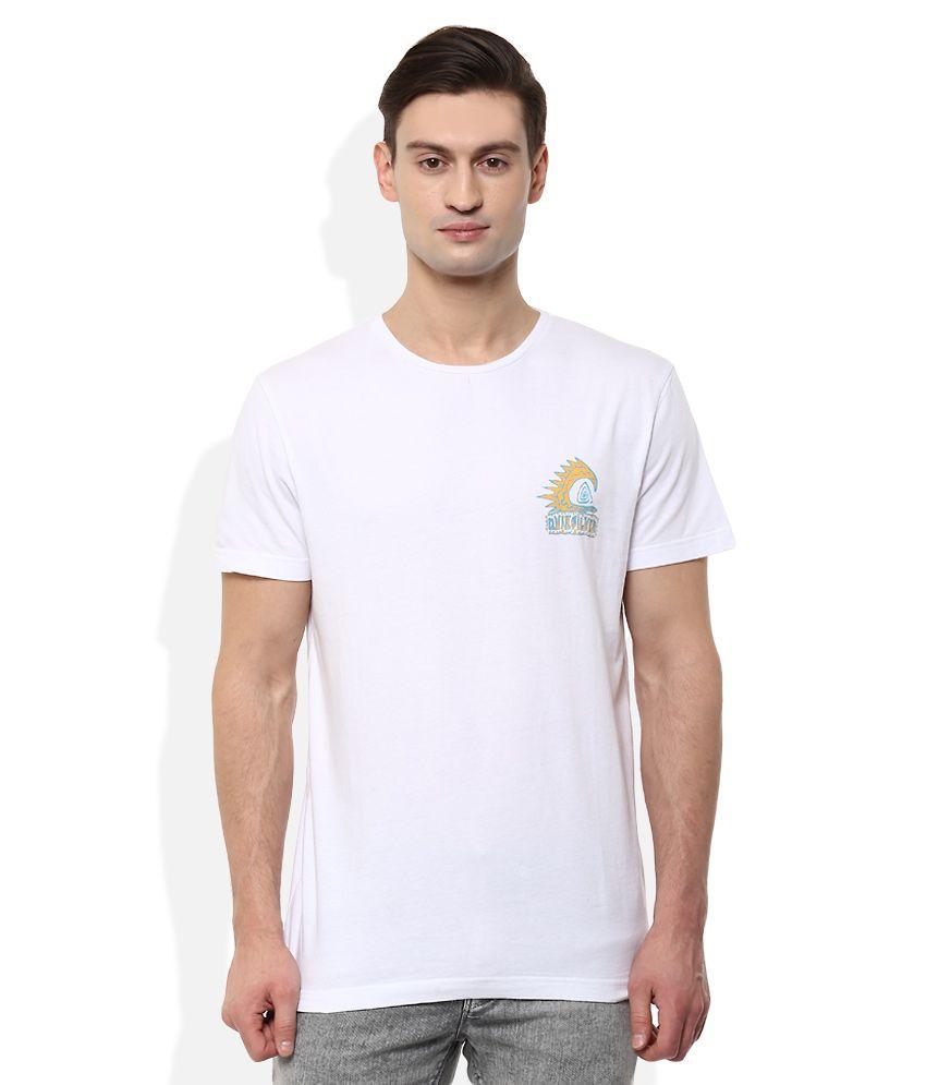 Quiksilver White Printed T-Shirt