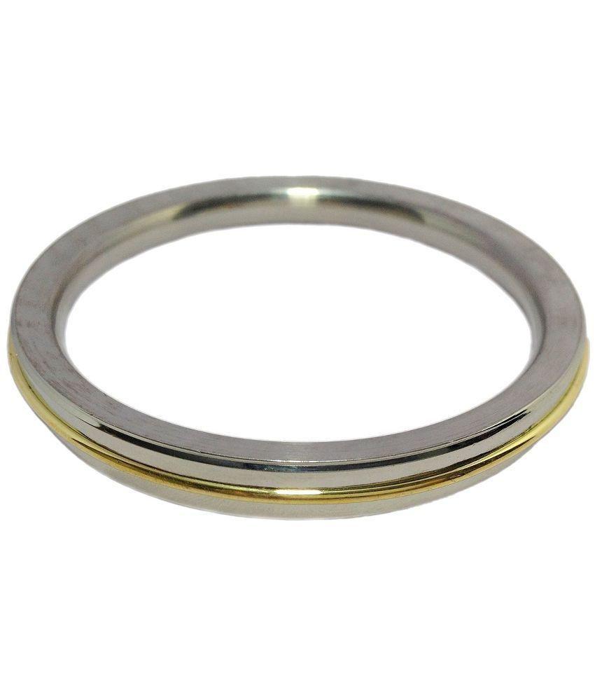 SS Padam Handicraft Industries Flat Stainless Steel Kada For Men