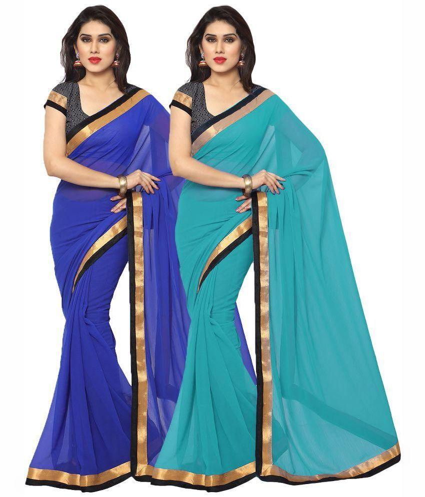 Suchi Fashion Multicoloured Chiffon Saree Combos