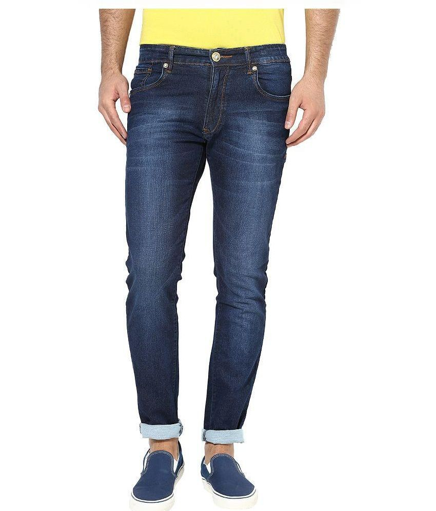 mcj jeans Blue Regular Fit Faded Jeans