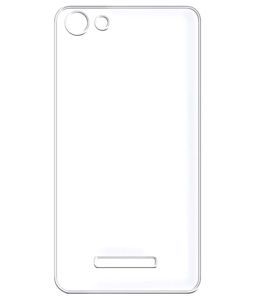 new product cce7a 7956b Evoque Back Cover for Micromax Canvas Spark 2 Plus Q350 - Transparent