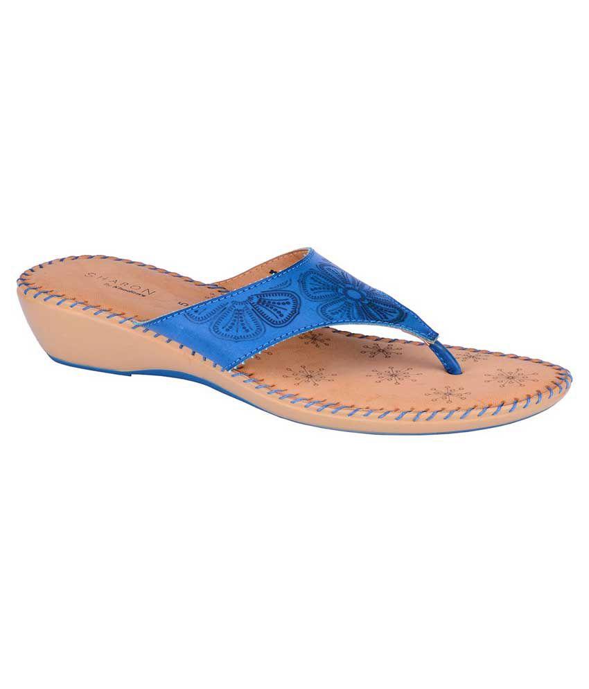 Khadim's Blue Wedges Heels