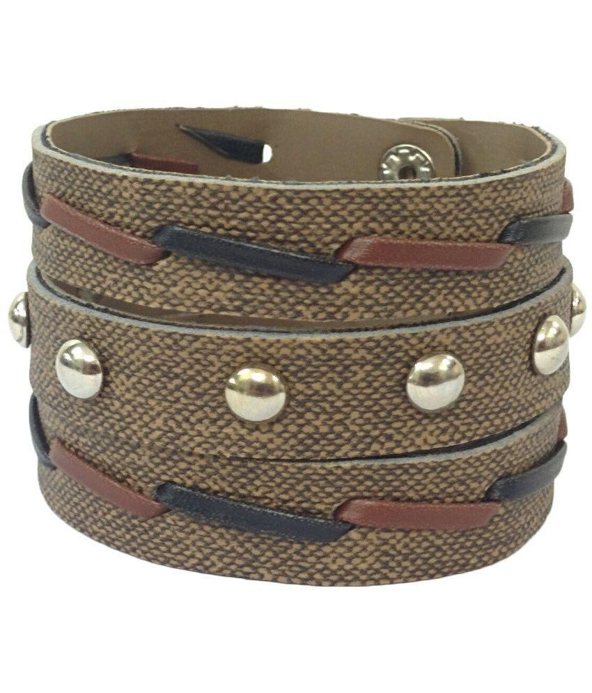 Treasure World Brown Faux Leather Bracelet