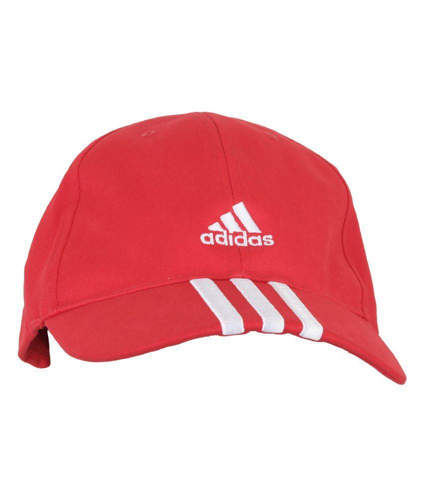 Adidas Red ESS 3S Cap for Men