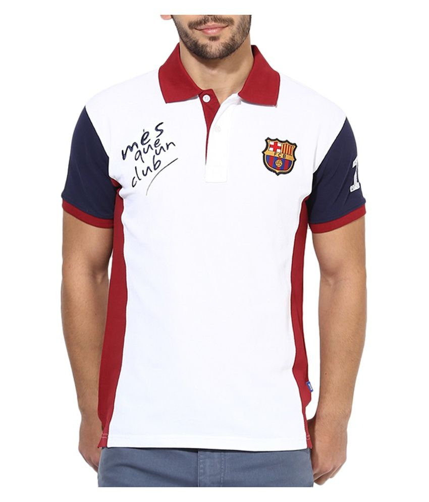 eb03e5ac Barcelona T Shirt Mens Mes Queun Club Polo - Buy Barcelona T Shirt Mens Mes  Queun Club Polo Online at Low Price in India - Snapdeal